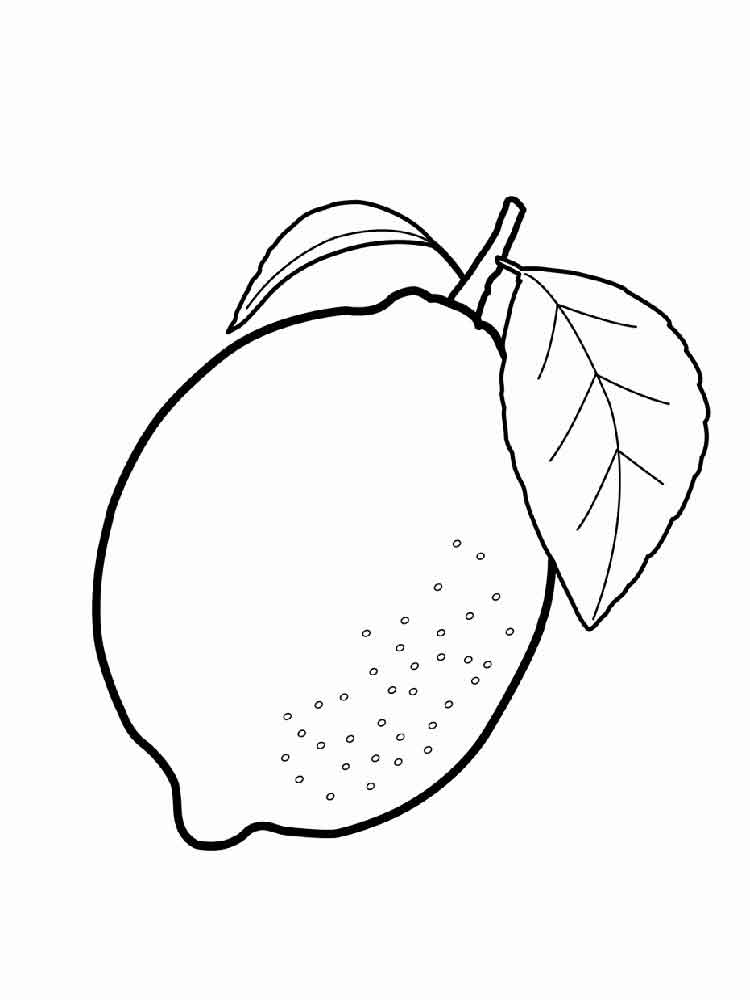 Citrus Fruits Coloring Pages Download And Print Citrus