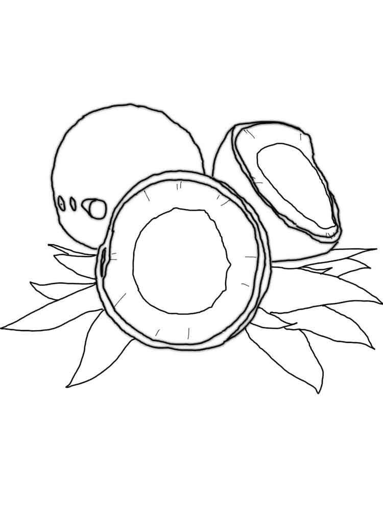 Coconut coloring pages Download