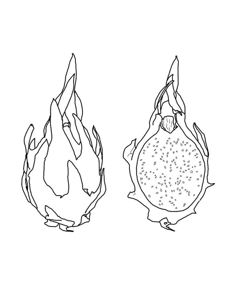 Dragon Fruit coloring pages Download