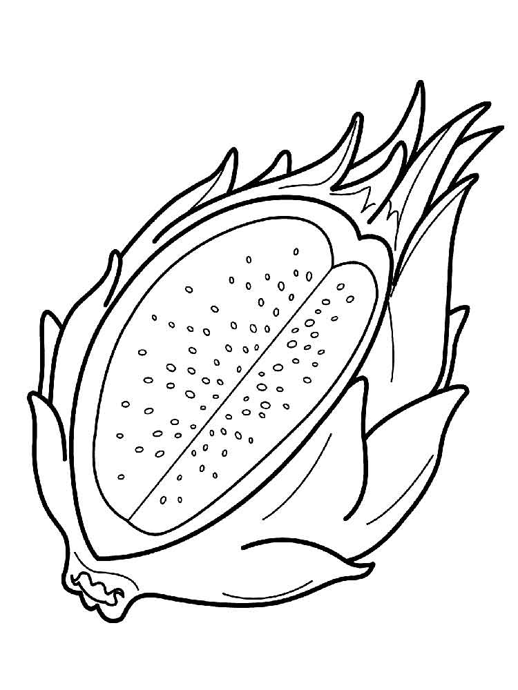 Dragon Fruit Coloring Pages Download And Print Dragon
