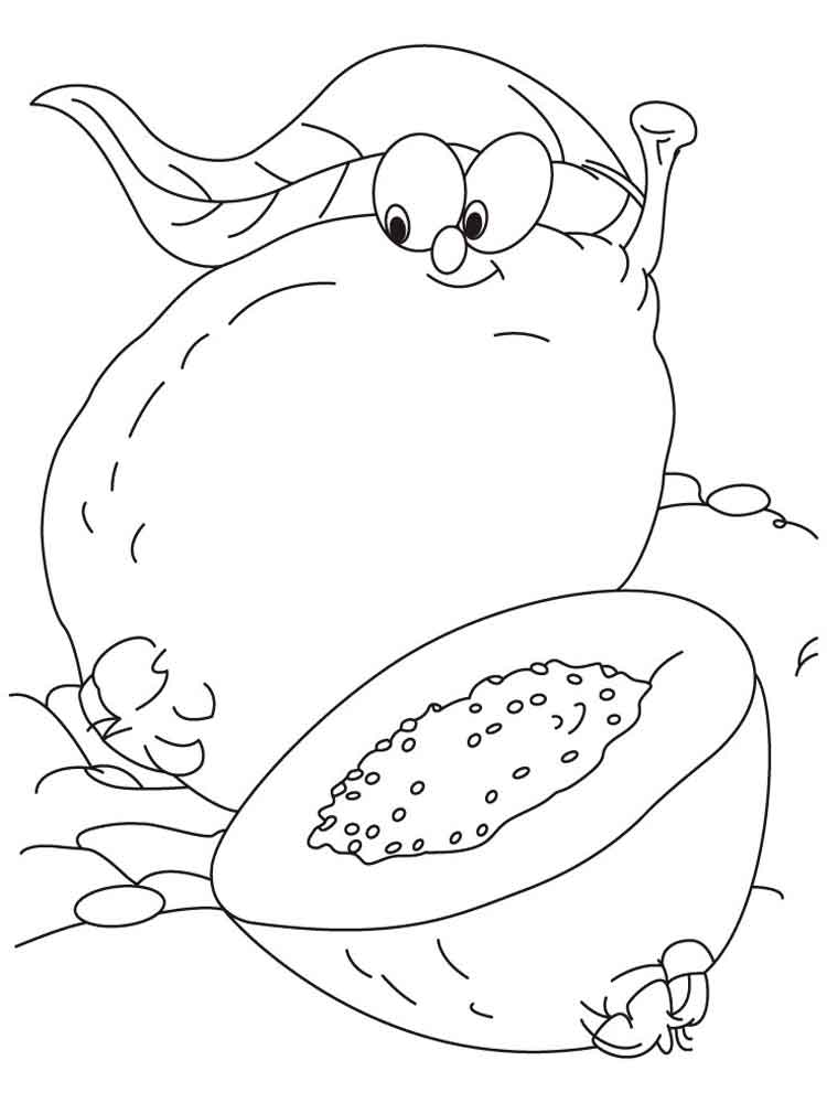 guavas fruits coloring pages 8