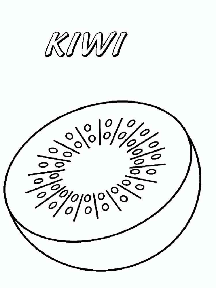 Kiwi Fruits Coloring Pages 9
