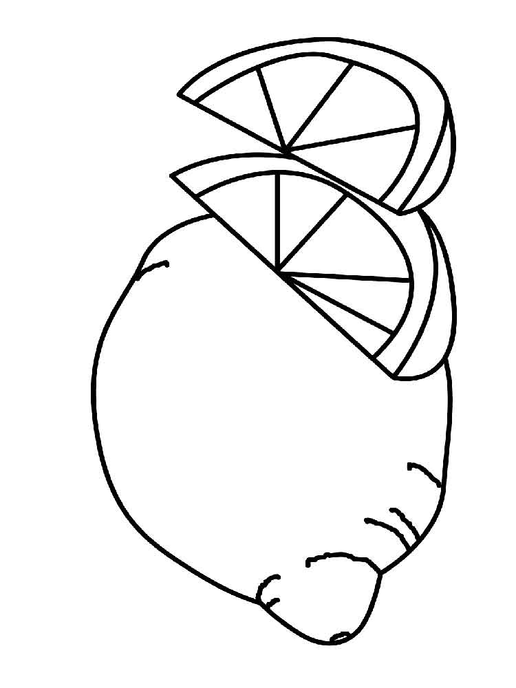 lemon coloring pages for kids - photo#20