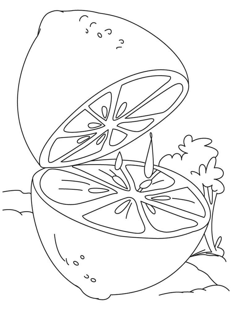 Lemon coloring pages Download