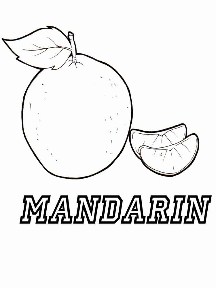 mandarintangerine fruits coloring pages 1