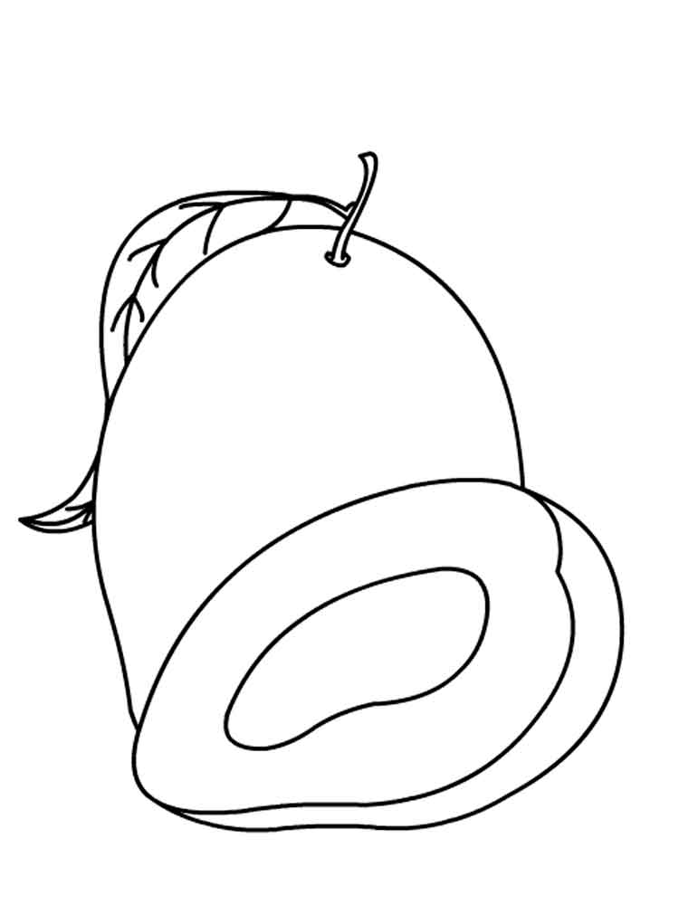 mango fruits coloring pages 4