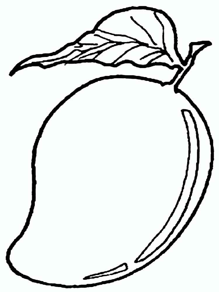 Line Art Mango : Mango coloring pages download and print