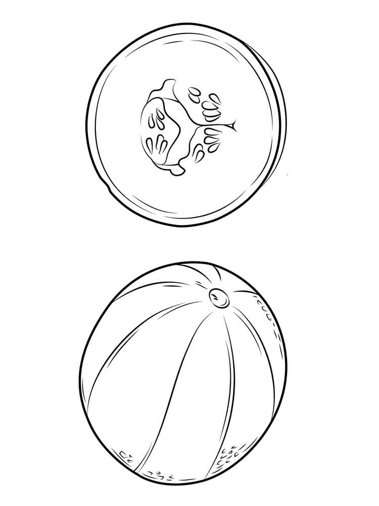 Melon coloring pages Download and print Melon coloring pages