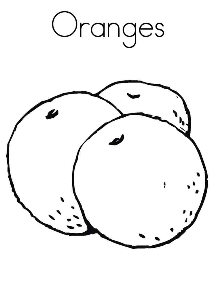 orange fruits coloring pages 12