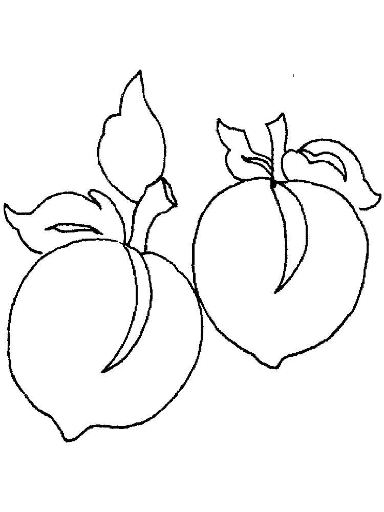 Peach Coloring Pages Download And Print Peach Coloring Pages