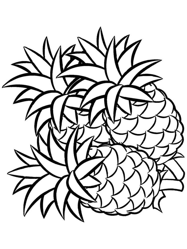 Pineapple coloring pages Download