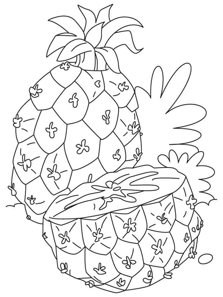 Pineapple coloring pages. Download and print Pineapple ...