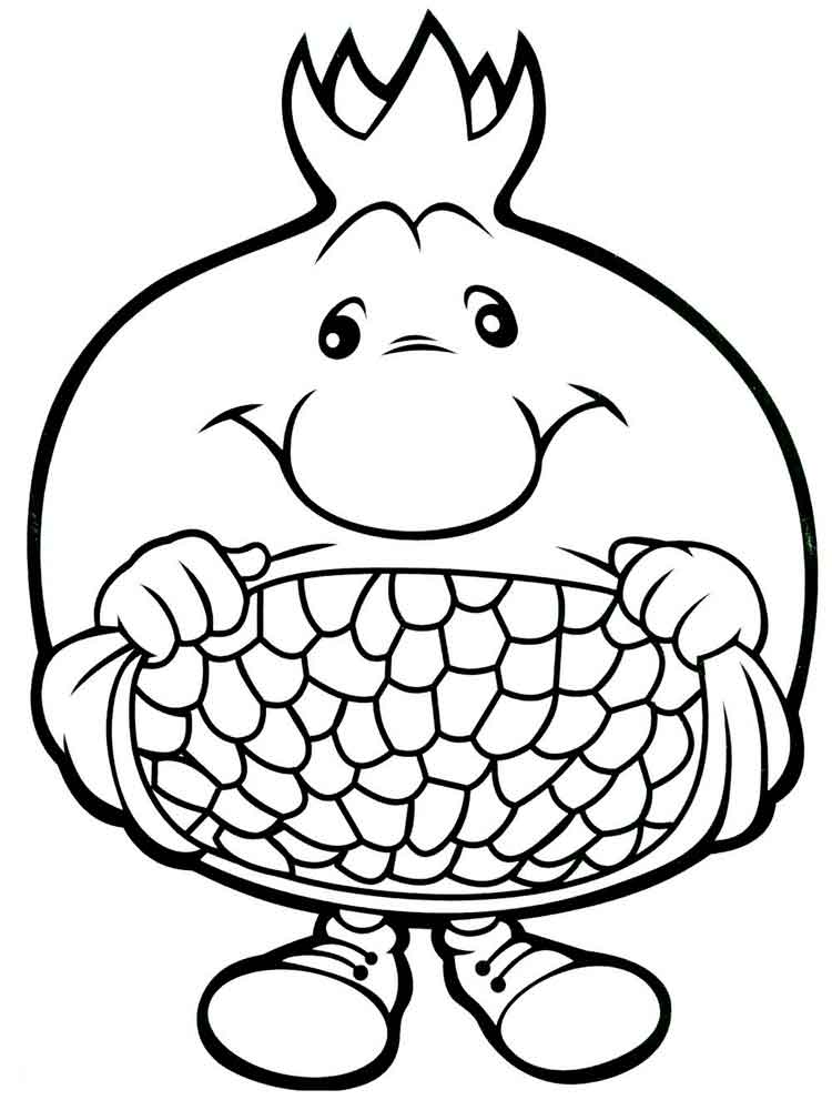 pomegranate images coloring pages for kids | Pomegranate coloring pages. Download and print Pomegranate ...