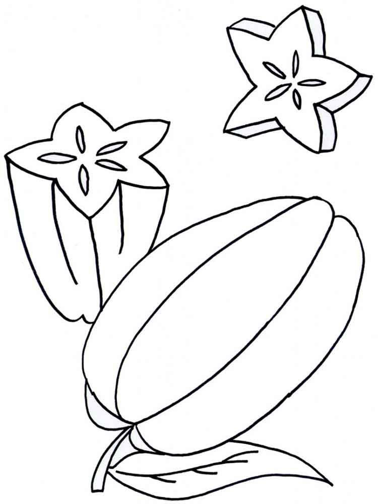 star fruits coloring pages 1