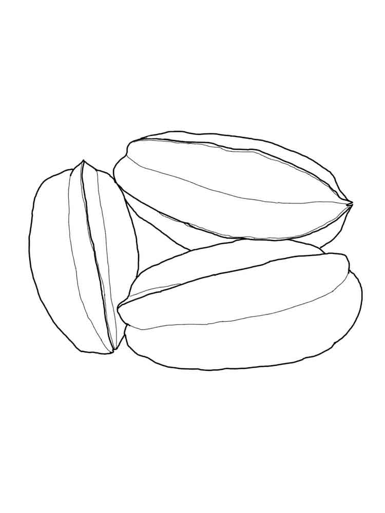 Star Fruit Coloring Pages Download And Print Star Fruit