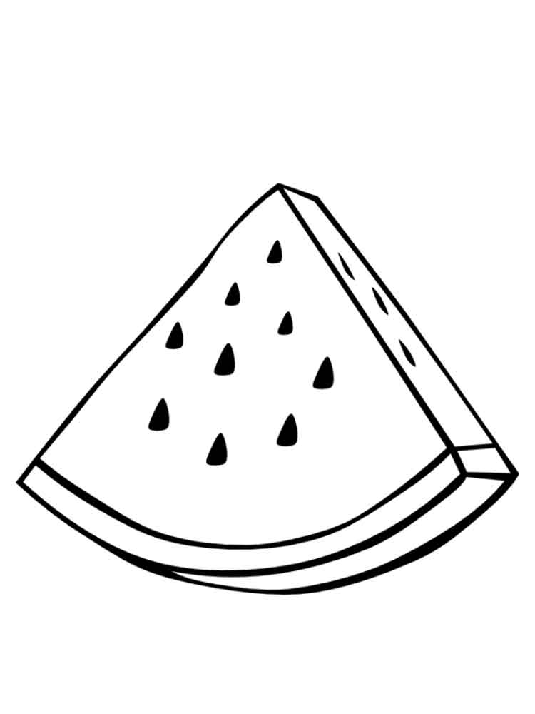 slice watermelon coloring page | coloring pages - Slice Watermelon Coloring Page