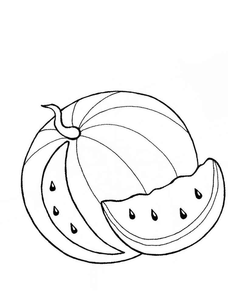 watermelon coloring pages download and print watermelon