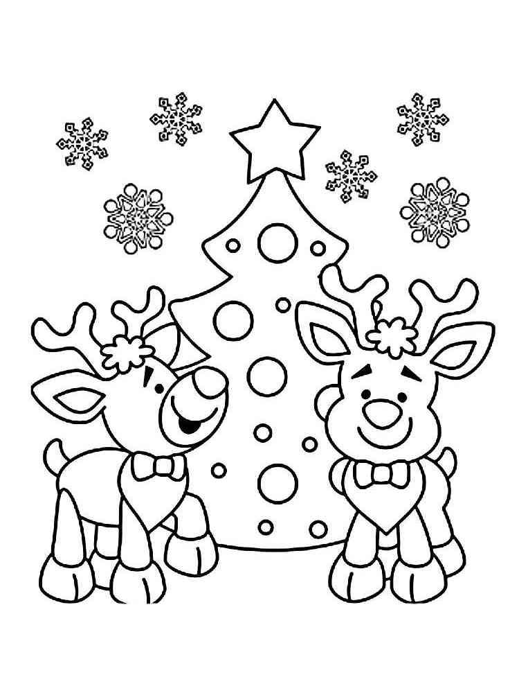 Reindeer coloring pages. Free Printable Reindeer coloring ...