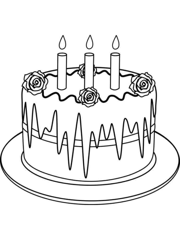 Birthday Cake coloring pages. Free Printable Birthday Cake ...