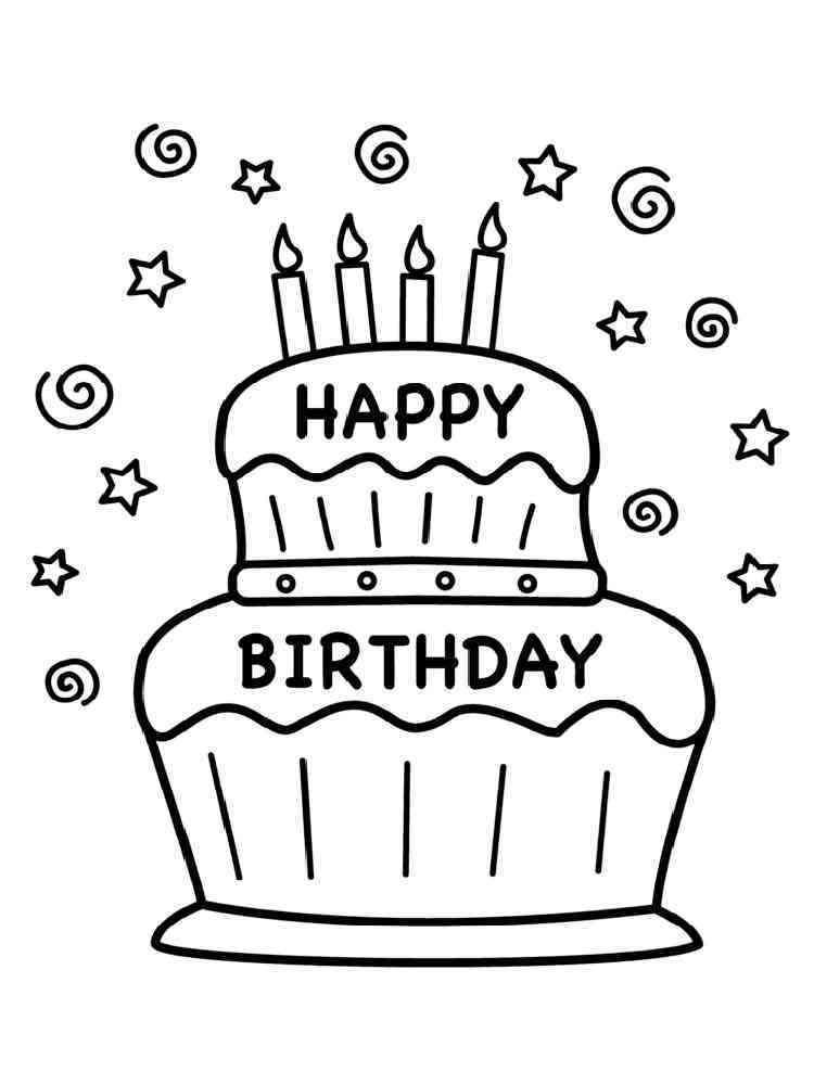 Happy Thanksgiving Corvette >> Birthday Cake coloring pages. Free Printable Birthday Cake coloring pages.