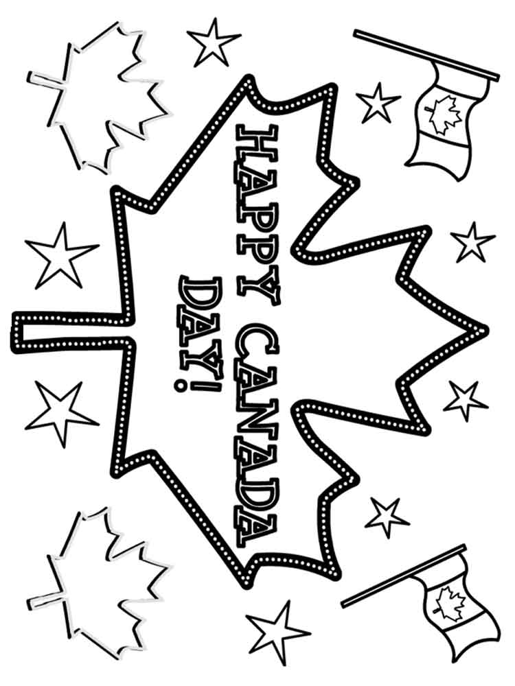 Canada Day coloring pages Free