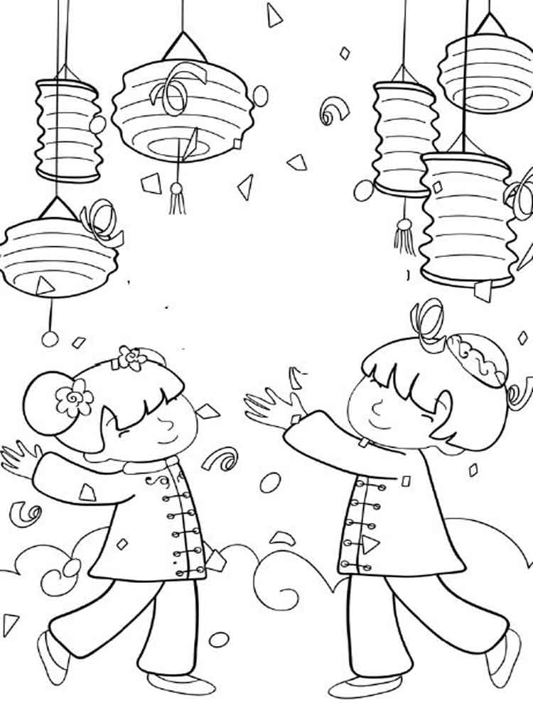 Chinese New Year coloring pages. Free Printable Chinese ...