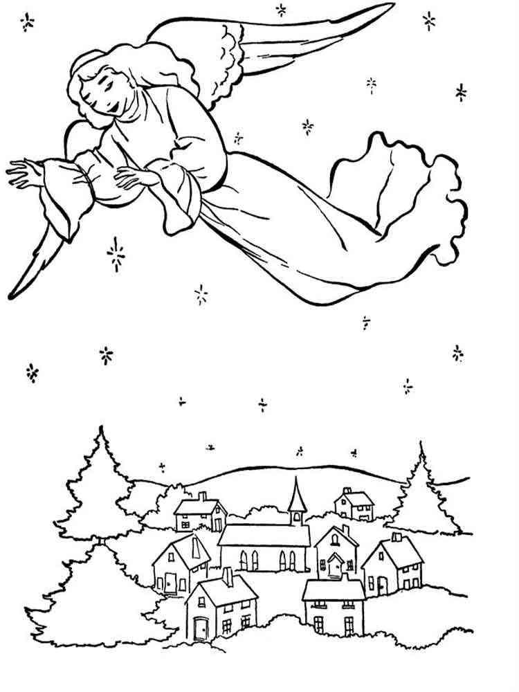 christmas angel coloring pages. free printable christmas
