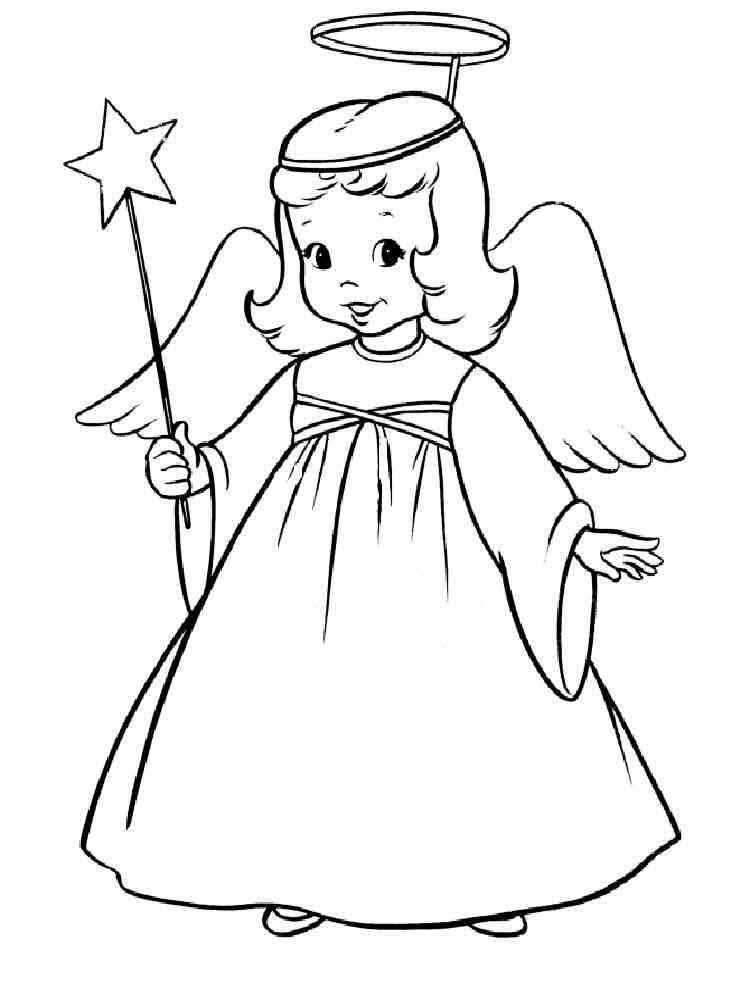 Christmas Angel Coloring Pages Free Printable Christmas