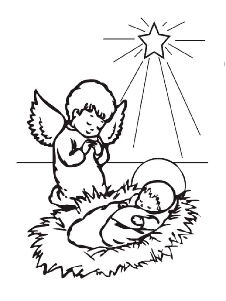 Christmas Angel coloring pages Free Printable Christmas