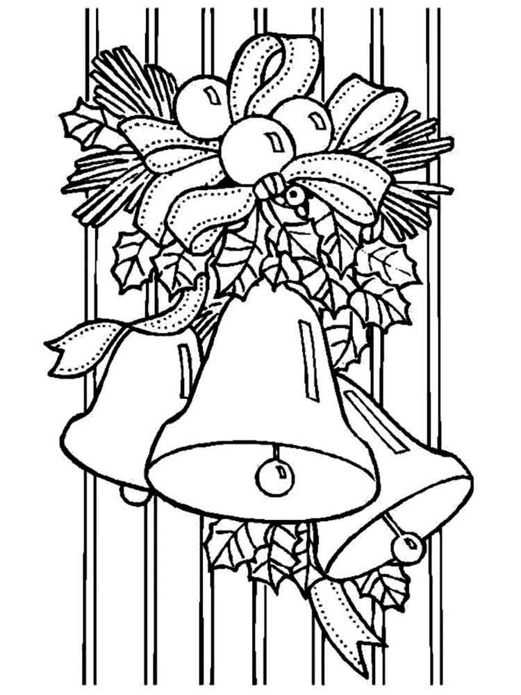 Christmas Bells coloring pages. Free Printable Christmas ...