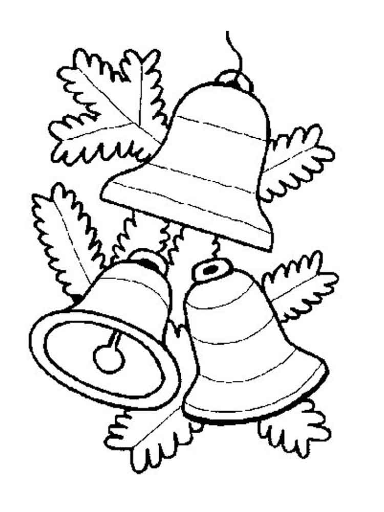 Christmas Bells coloring pages Free Printable Christmas Bells