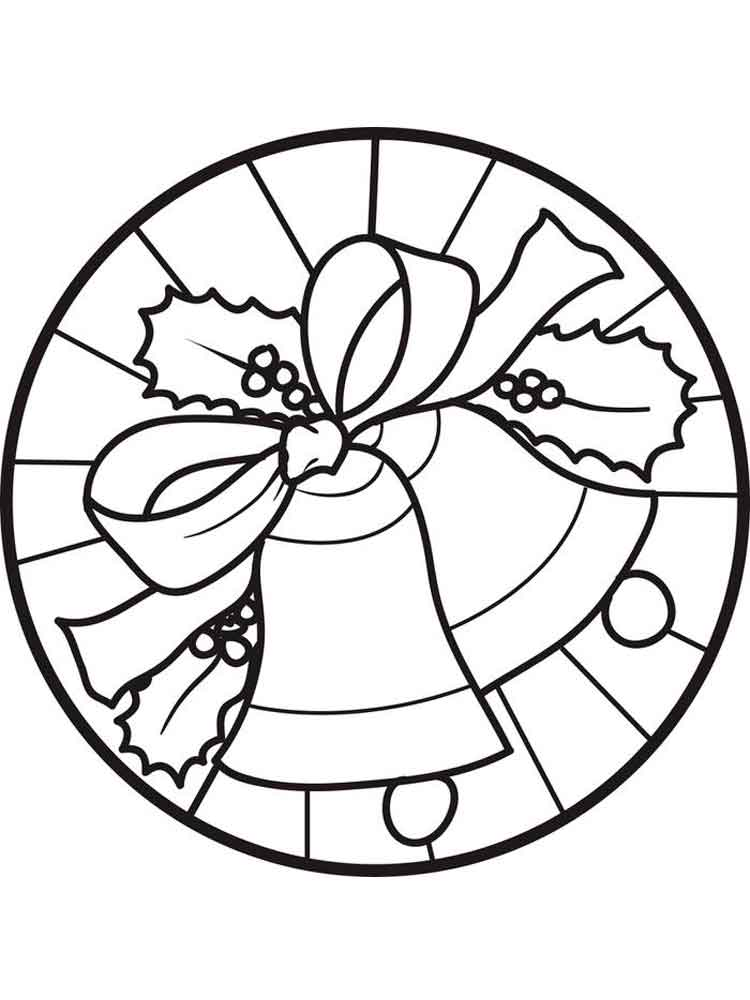 Christmas Bells Coloring Pages Free Printable Christmas