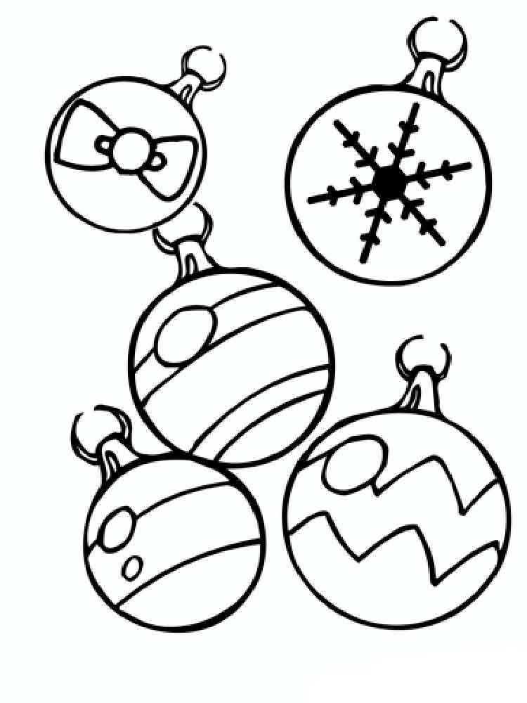 Christmas Decorations coloring pages Free Printable Christmas