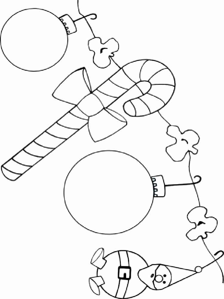 Christmas Decorations coloring pages. Free Printable ...
