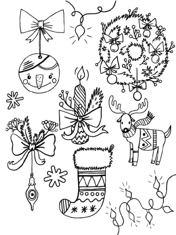 Christmas Decorations coloring