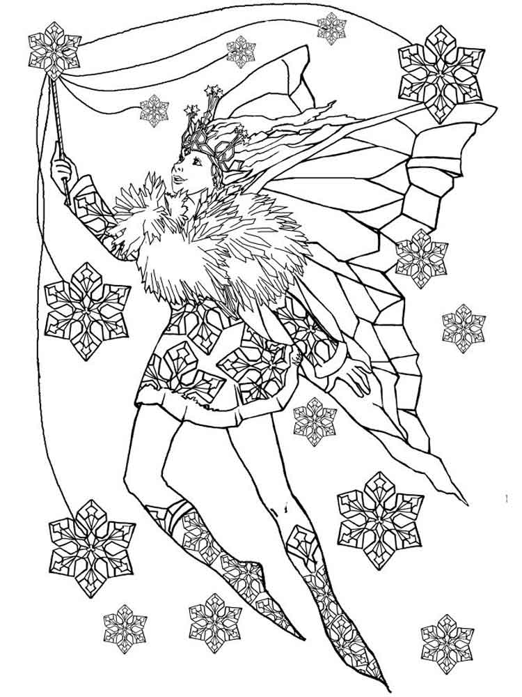 christmas fairy coloring pages - Ideal.vistalist.co