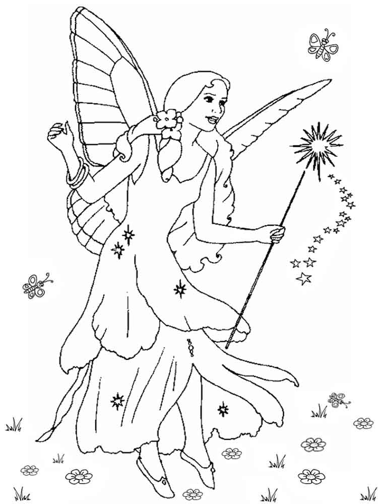 Christmas Fairy Coloring Pages Free Printable Christmas