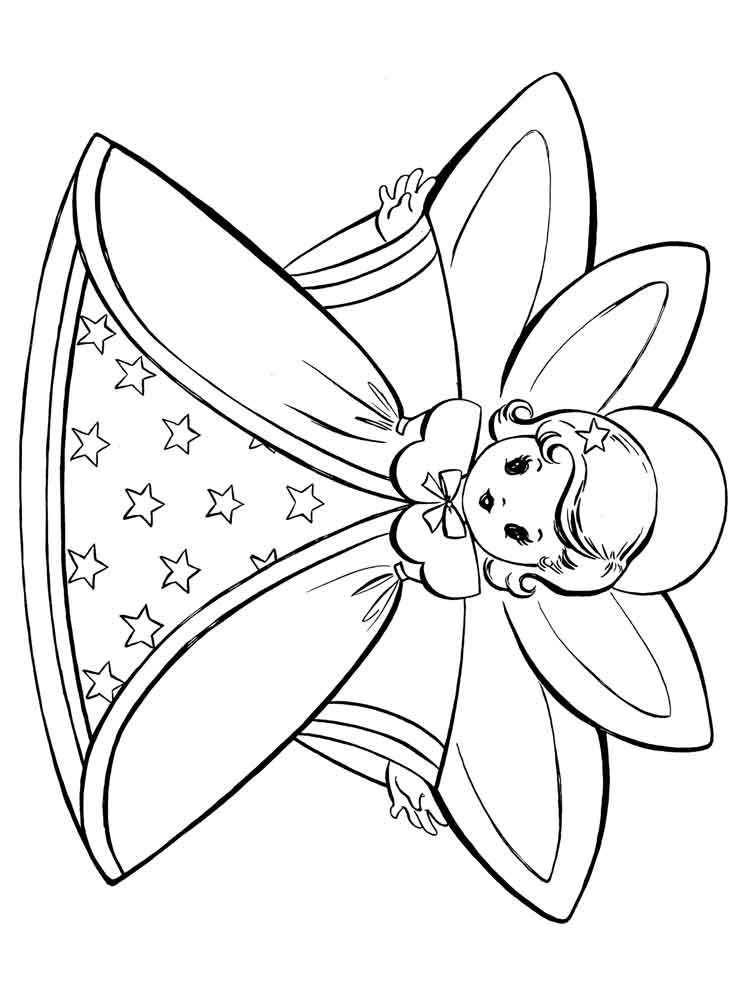 Christmas Fairy coloring pages. Free Printable Christmas ...