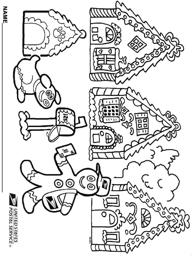 Christmas Gingerbread coloring pages. Free Printable ...