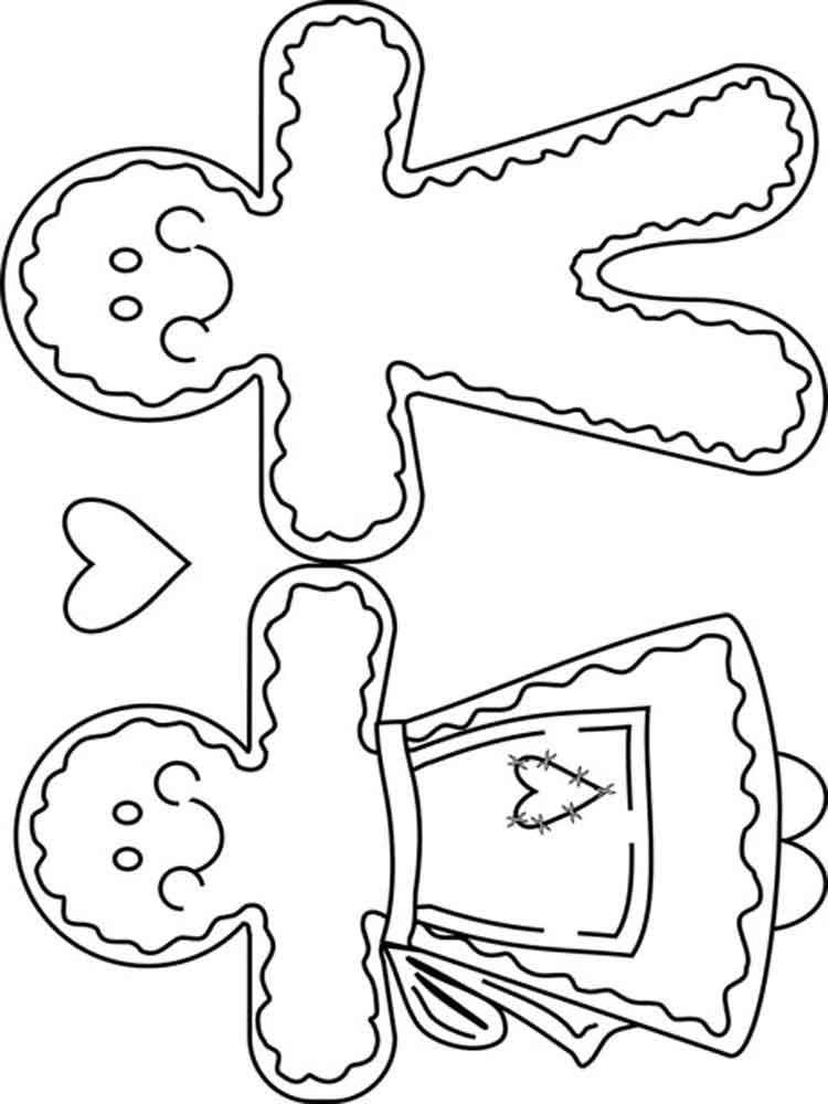christmas coloring pages to print gingerbread | Christmas Gingerbread coloring pages. Free Printable ...