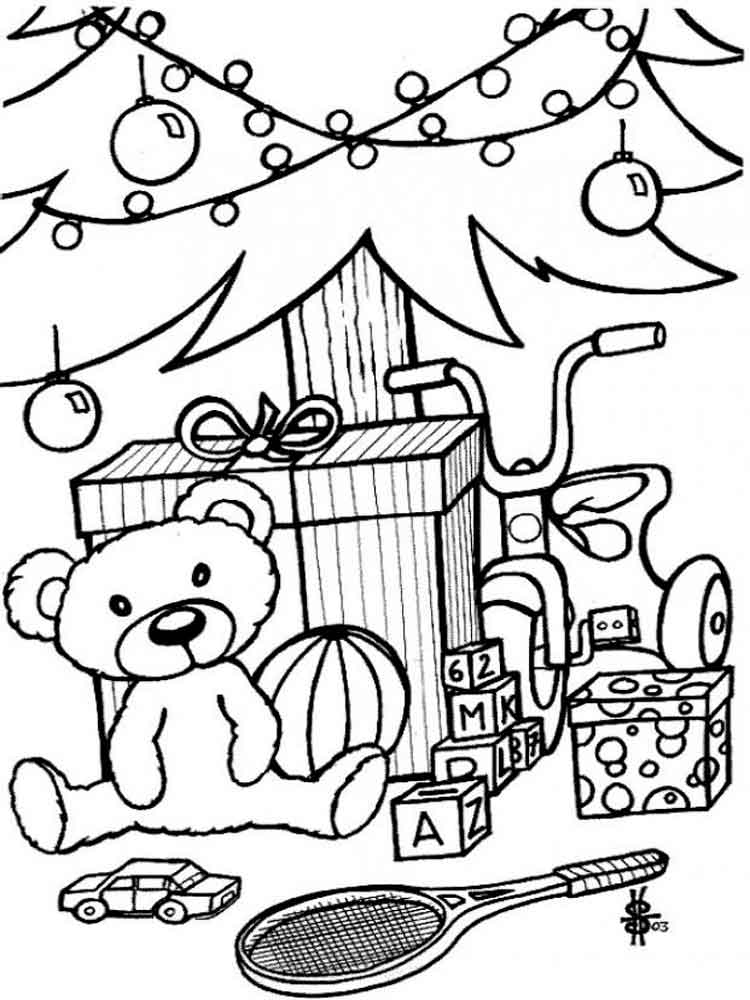 christmas toys coloring pages  free printable christmas toys coloring pages