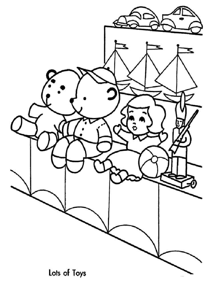 Christmas Toys Coloring Pages. Free Printable Christmas