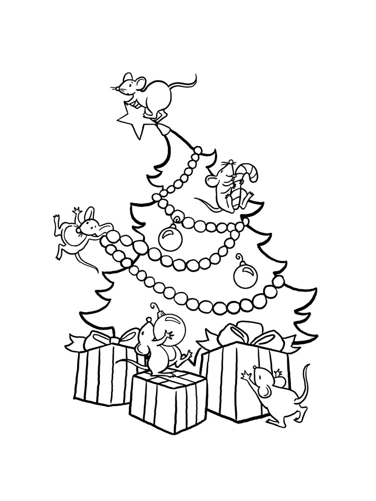 Christmas Tree coloring pages. Free Printable Christmas ...