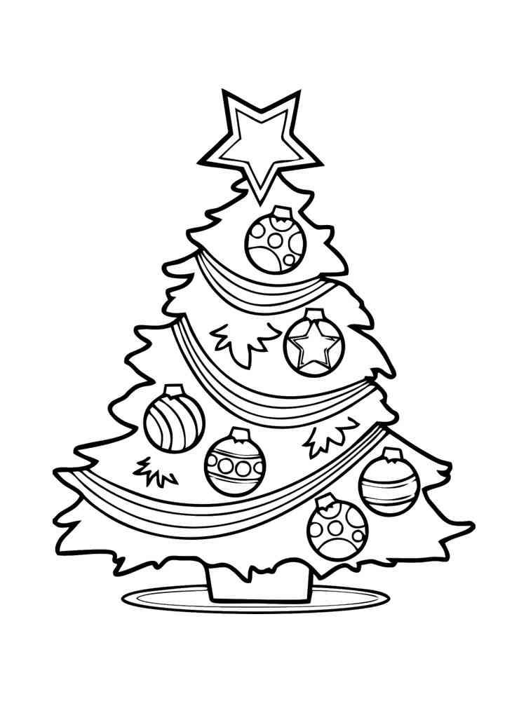 Christmas Tree coloring pages. Free Printable Christmas ...