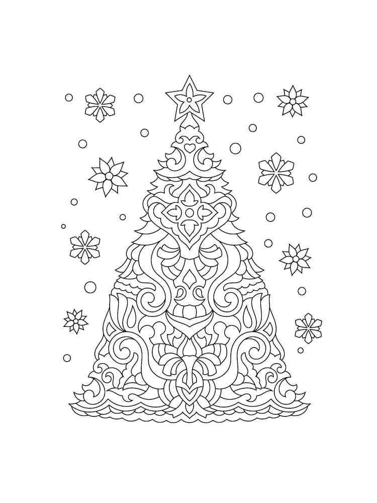 Christmas Tree Coloring Pages Free Printable Christmas