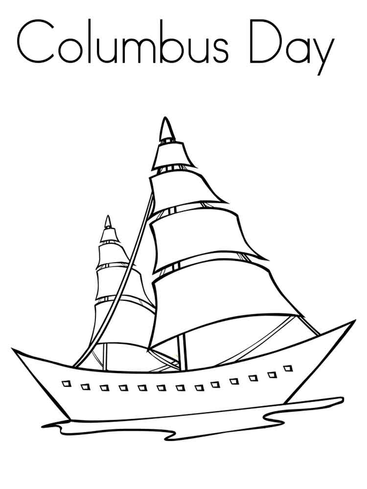 Columbus Day Coloring Pages Free Printable Columbus Day Coloring Pages