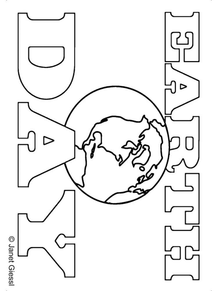 Earth Day coloring pages Free Printable Earth Day