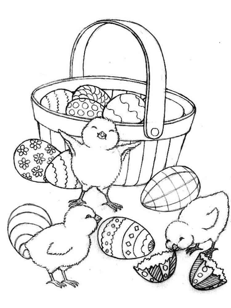 Easter Basket coloring pages. Free Printable Easter Basket ...