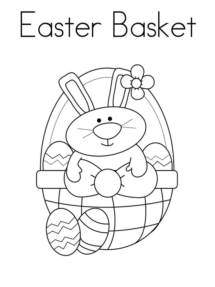 Easter Basket coloring pages Free