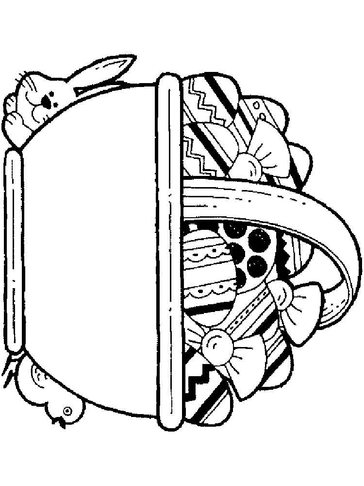 Easter Basket coloring pages Free Printable Easter Basket